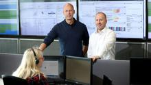 Novosco managing director John Lennon with Peter Moorhead, information security architect, in the firm's new security operations centre