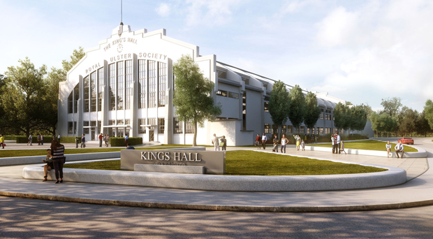 An artist's impression of the King's Hall wellbeing park