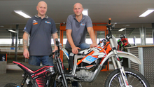 Kyle Rainey (left) and Gareth George of E-Trax NI at their indoor centre