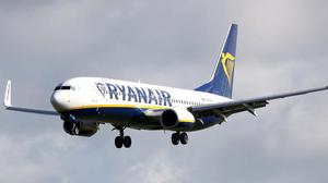 """In the summer Ryanair blamed the UK Government's failure to suspend or reduce air passenger duty (APD) and """"the lack of Covid recovery incentives"""" for its decision to stop flights from Belfast International and Belfast City. Photo: PA/Niall Carson."""