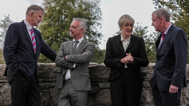 William McCulla of Invest NI; John Phelan of HBAN; Margaret Hearty from InterTradeIreland, and Enterprise Ireland's Kevin Sherry