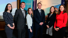 Hazel Ahern-Flynn of Ibec; Alan Bridle, Loretta O'Sullivan and Dale Guest of Bank of Ireland; CBI NI director Angela McGowan; CBI deputy chief economist Anna Leach