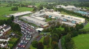Spacious: The site beside the Wrightbus factory at Lisnafillan Road in Galgorm