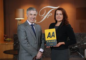 The Fitzwilliam Hotel's Cian Landers, general manager and Siobhan O'Sullivan, director of sales and marketing