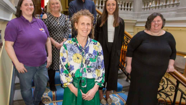 Siofra Healy with The Rainbow Project, PIPS Charity and Flourish NI at the recent Community Foundation #CharityChampions event, which raised more than £10,000 for the three charities during Philanthropy Fortnight