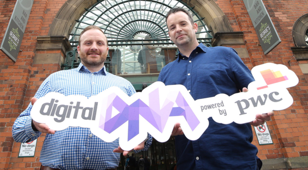 John McGuckian (right) at the launch of Digitial DNA