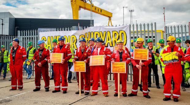 Harland and Wolff staff protest in July