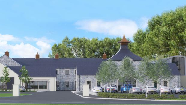 An artist's impression of Hinch Distillery, which is due to be completed next year