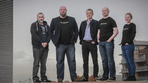 Cloudsmith staff Paddy Carey, Alan Carson, Peter Lorimer, Lee Skillen and Kimberly Neill