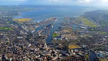 A general view of Belfast Harbour