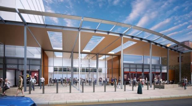 Artist's impression of new Ealing Broadway station