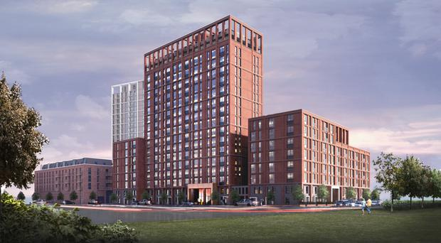An artist's impression of Outwood Wharf in Salford