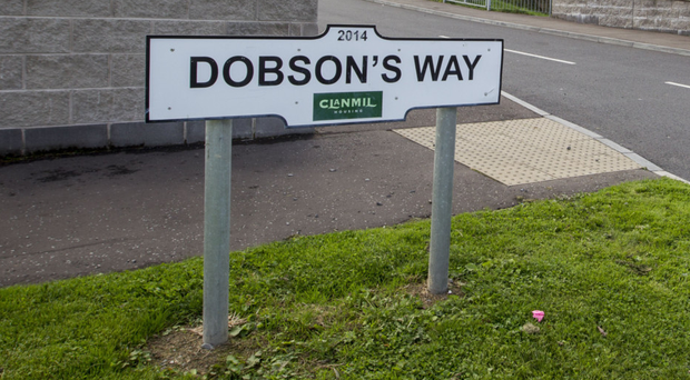 Dobson's Way in Bessbrook where yesterday's tragedy happened