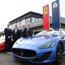 Colin McNab of Charles Hurst (second from left) at launch of one its specialist Ferrari and Maserati sales rooms in Belfast