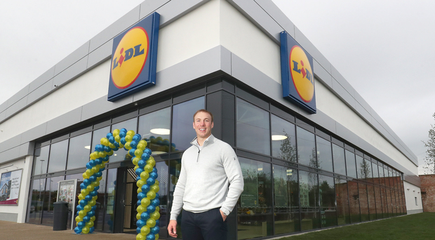 6c803789894b Former Ulster and Lions rugby player Stephen Ferris at the opening of  Lidl s largest store in