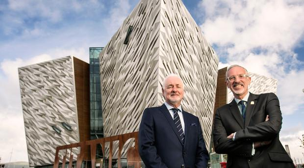 Tourism NI chairman Terence Brannigan and Titanic Belfast chief executive Tim Husbands