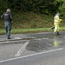 Police and DRD staff on the Glenshane Road