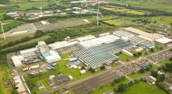 An aerial view of the Michelin factory in Ballymena