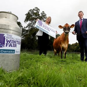 Robert McCullough with Rhonda Geary, operations director at the Royal Ulster Agricultural Society