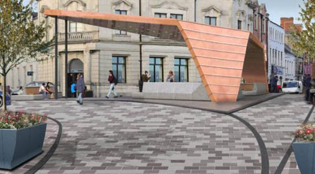 Tal carried out public realm work, including a project planned for Ballymena