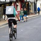 Fast food: a Deliveroo cyclist