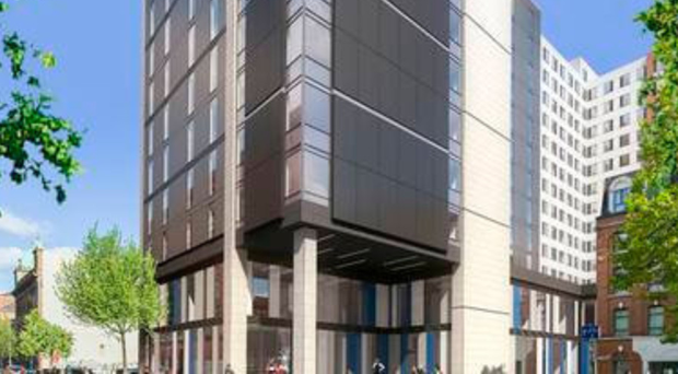 The planned Maldron Hotel in Belfast