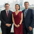 From left, British Consul General Andrew Heyn, Jennifer Liu, Invest NI, and the agency's chairman Mark Ennis