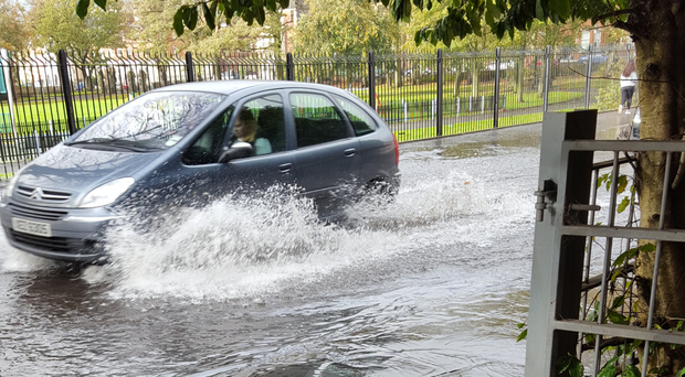 The floodwater at Alexandra Park Avenue