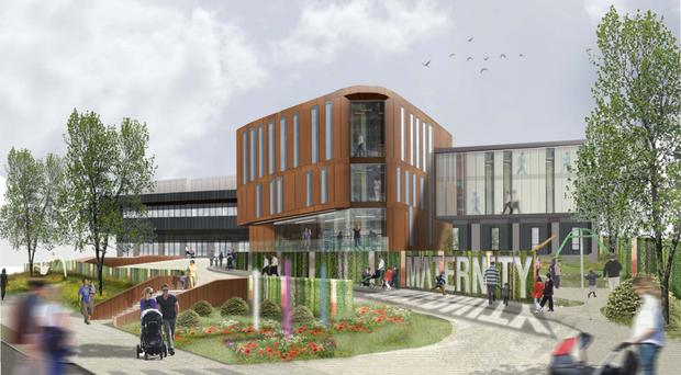 An artist's impression of how the new hospital could look
