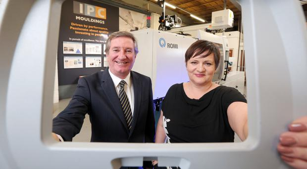 Bill Montgomery of Invest NI and Joanne Liddle of IPC Mouldings