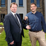 Key figures: Darren McKinney of Habinteg Housing Association and Jamesy O'Hagan of Hagan Homes