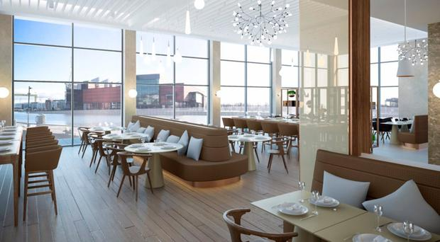 How the restaurant in harbour development will look