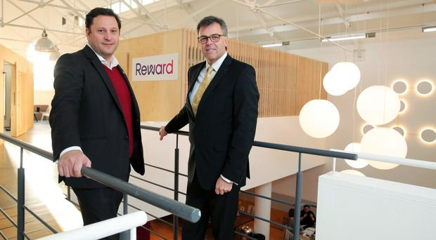 Reward chief executive Gavin Dein (left) with Invest NI's Alastair Hamilton