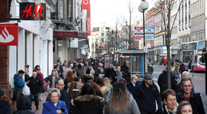 Shopper footfall in Northern Ireland sagged last month