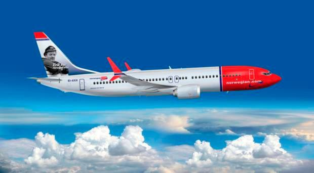 Norwegian's route network includes flights from Belfast, London Gatwick, Edinburgh and Manchester