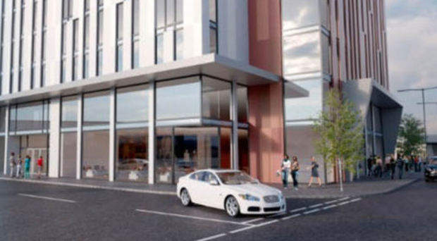 An artist's impression of the new student accommodation