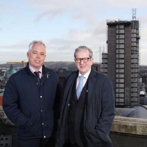 Mark McGurnaghan (left) of Hastings Hotels and James McGinn, general manager of the Europa