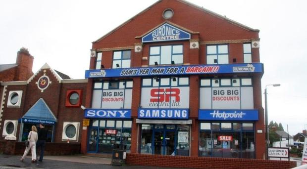 The former home of S&R Electrical on the Holywood Road in east Belfast