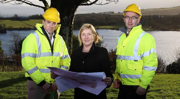 Charis Care board member Jarlath Conway (left), centre director Imelda McGucken and Ryan Dougan of Vision Design Architecture