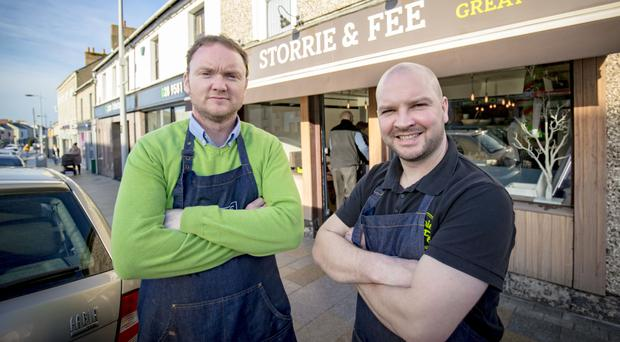 Jarlath Storrie (left) and Richard Fee at their new premises in Antrim