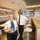 McDonald's Shore Road Business Manager Katie McManus and Andy Duncan, Franchisee Operations Supervisor
