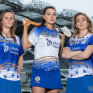 From left: Camogie stars Aoife Murray (Cork), Rebecca Hennelly (Galway) and Aisling Maher (Dublin) in O'Neills sports kit