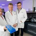 Dr Peter FitzGerald of Randox, Sir John Bell of the Life Sciences Industrial Strategy Board and Alastair Hamilton of Invest NI