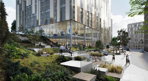 An artist's impressions of the planned office building at the Sirocco Works in Belfast