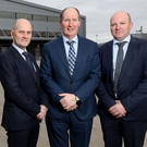 From left: Dr Robert Dunlop, president and managing director, Almac Clinical Services; Alan Armstrong, chairman and chief executive, Almac Group, and Graeme McBurney, president and MD, Almac Pharma Services