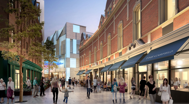An artist's impression of what Royal Exchange in central Belfast could look like