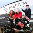 NW200 event director Mervyn Whyte with Donna and Mark Donnelly from Merrow Hotel