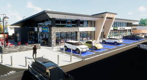 An artist's impression of the Maxol service station in Newry