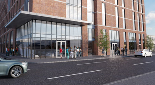 An artist's impression of student accommodation at Great Patrick Street