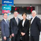 From left: Jonathan Moore of the Strategic Investment Board, Translink's Patrick Anderson, AmeyTPT managing director Deborah Richards and John Quinn, property director